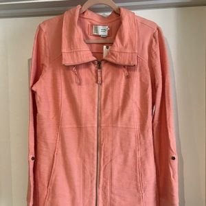 Anthropologie peach colored jacket